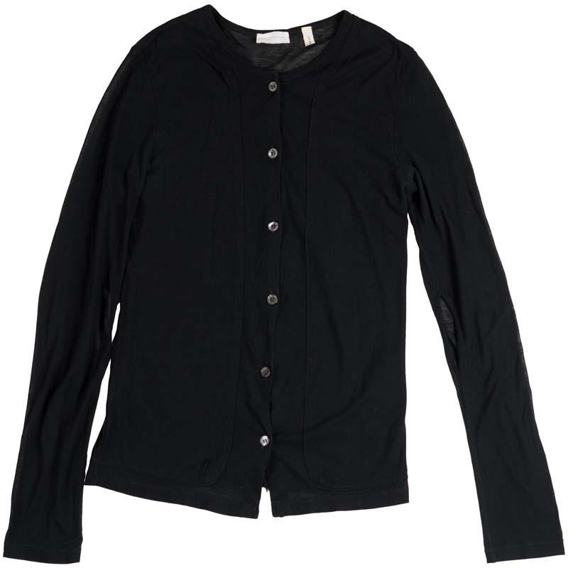 Helmut Lang 1998 Transparent Cotton Button-up Longsleeve