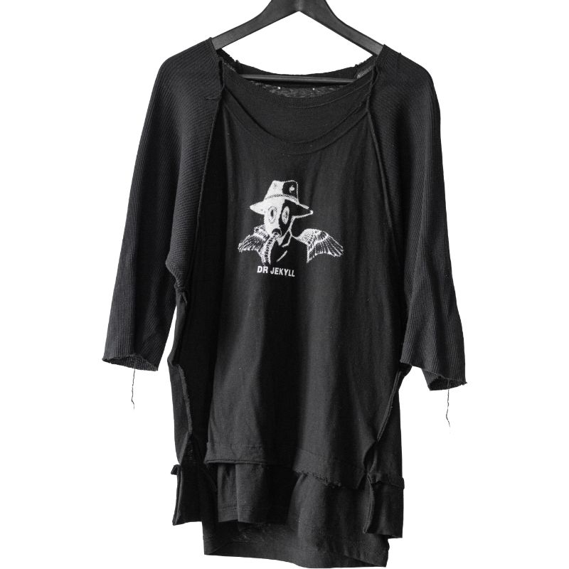 Undercover SS05 Dr. Jekyll Layered Distressed T-Shirt
