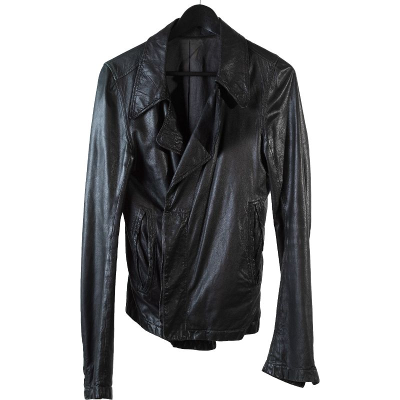 Rick Owens SS08 'Creatch' lapel leather jacket
