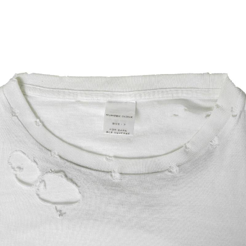 Number Nine SS02 Damaged White Long Sleeve