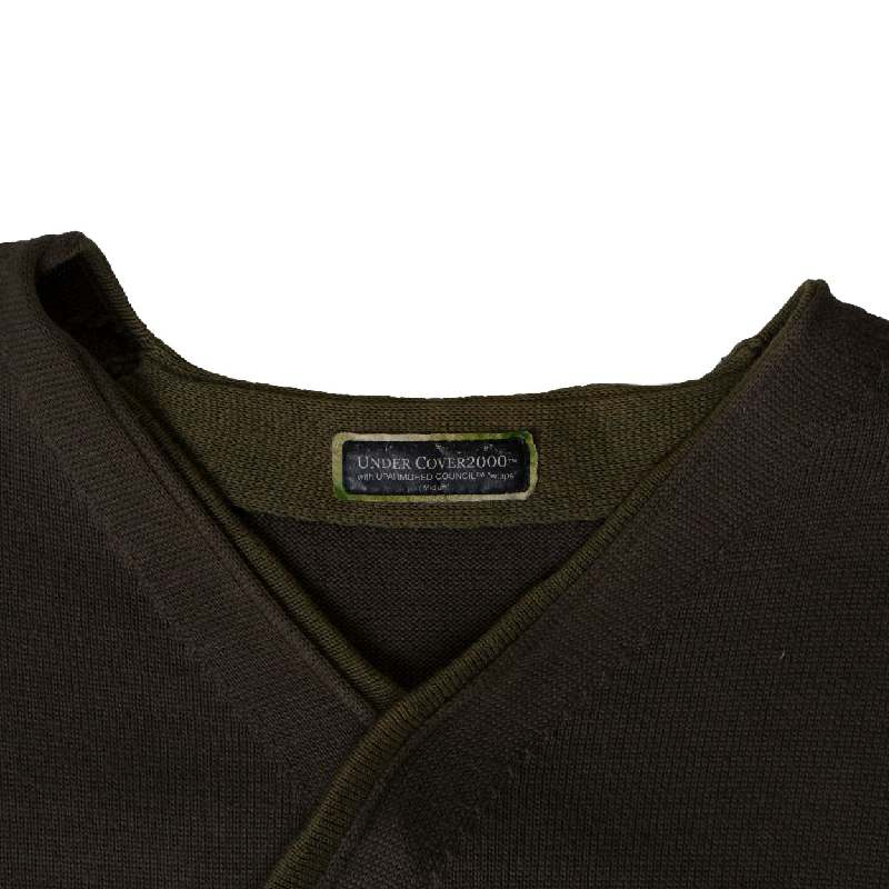 Undercover x WTAPS SS00 Brown Diagonal Sweater