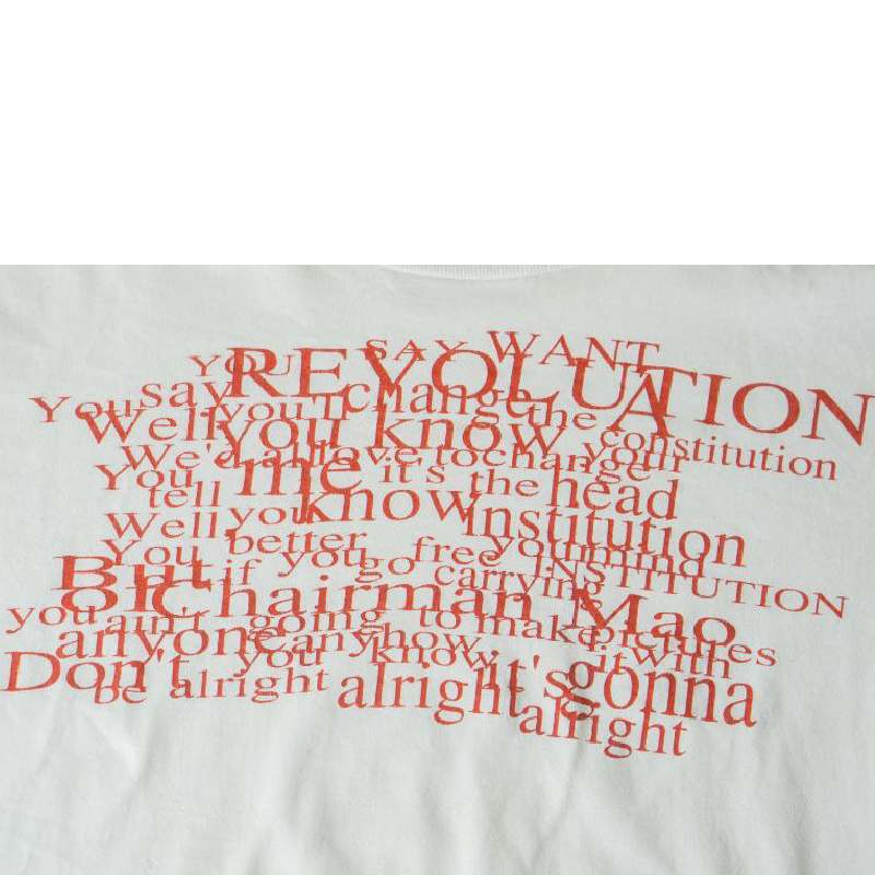 Undercover 90s Revolution 'The Beatles' lyrics tee