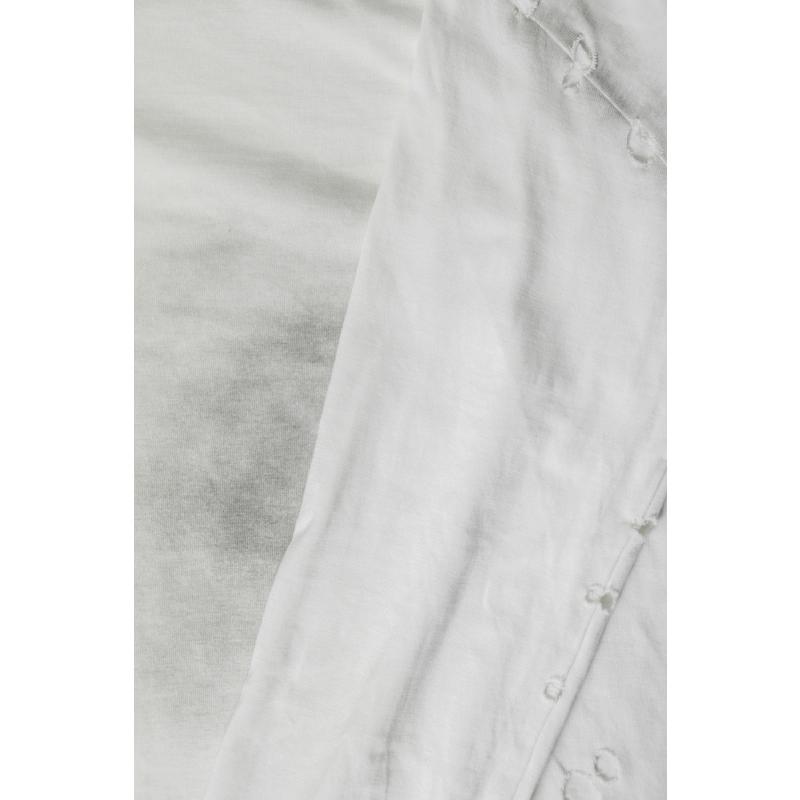 Number Nine SS02 Damaged White Long Sleeve