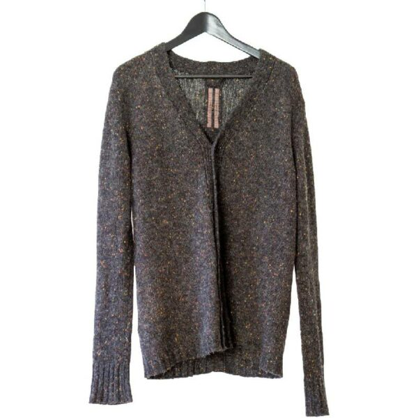 Rick Owens FW12 Mountain Speckled Dark Grey Cardigan