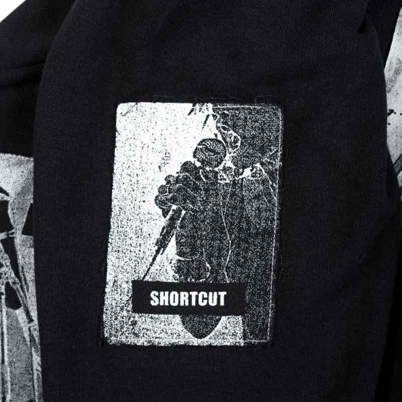 Raf Simons SS05 Avantgarde Black Patchwork Crewneck