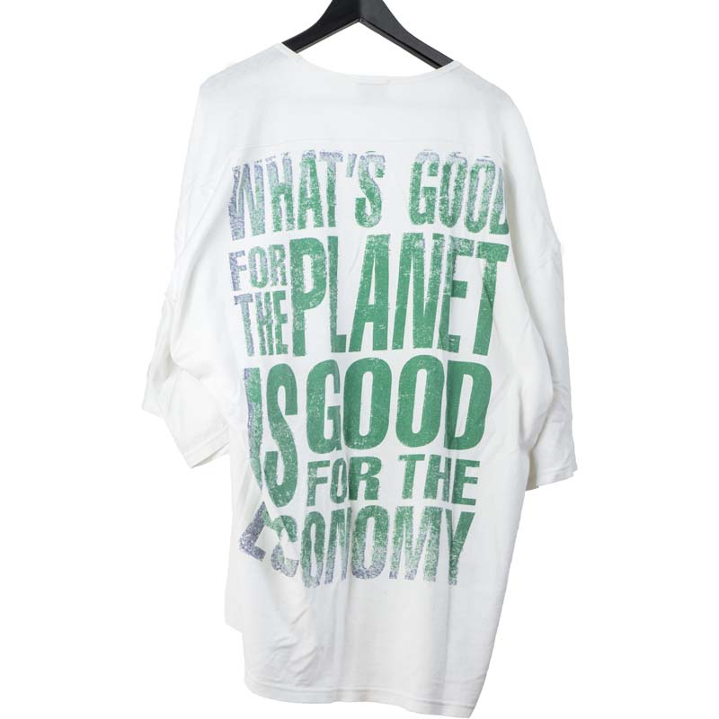 Vivienne Westwood MAN 'Whats good for the planet is good...' Oversized tee