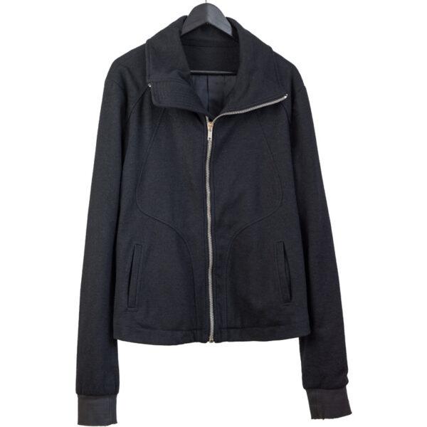 Rick Owens Geo Woolen Funnel Neck Jacket