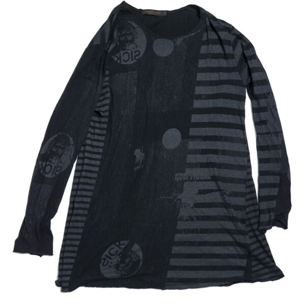 Undercover SS05 'Sick' Striped Long Sleeve