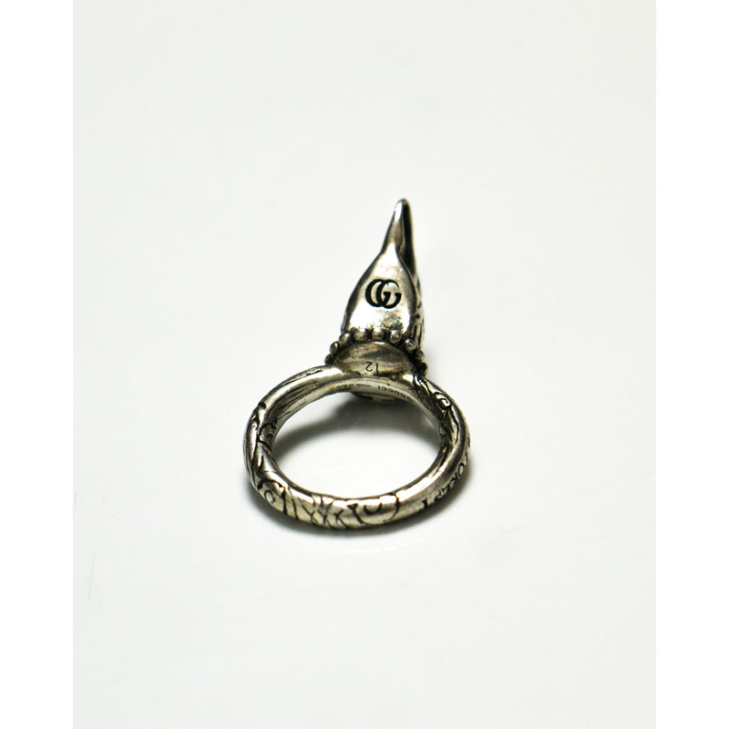 """Gucci Eagle """"Anger Forest"""" Silver Ring"""