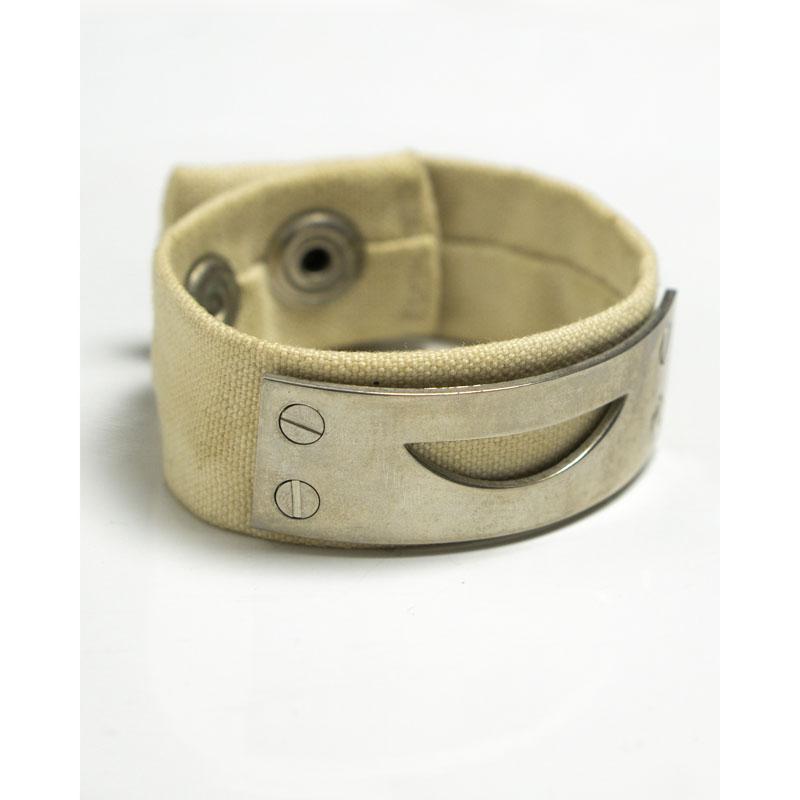 Undercover 90s Silver Smile Cotton Bracelet