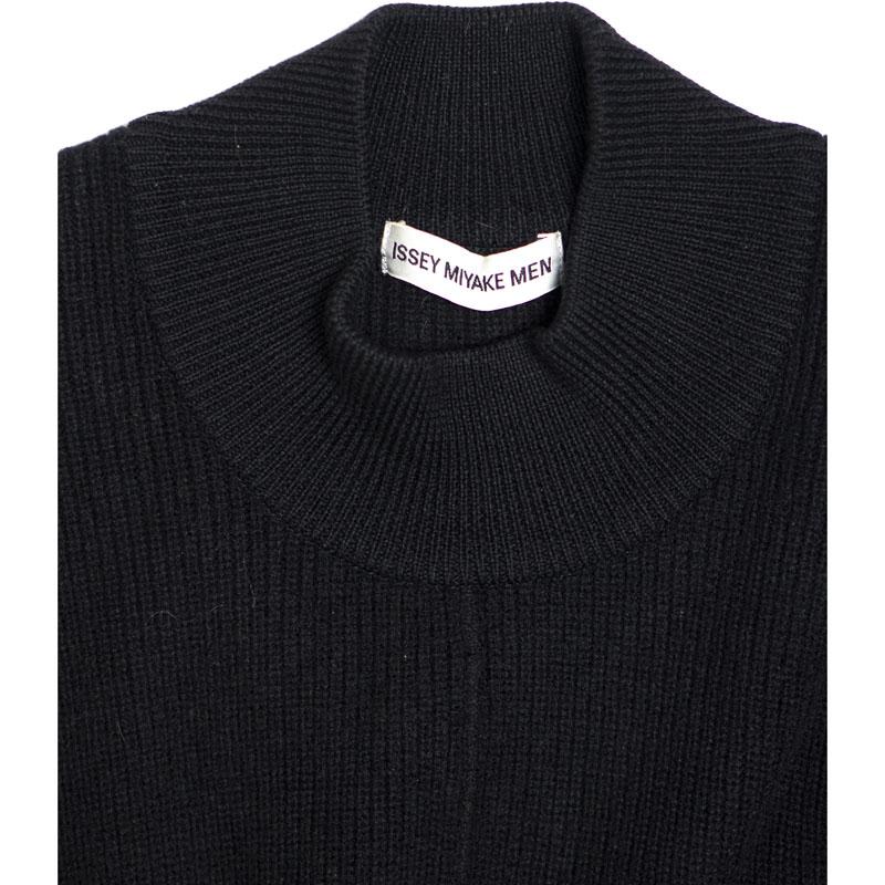 Issey Miyake Men Black Turtleneck Sweater