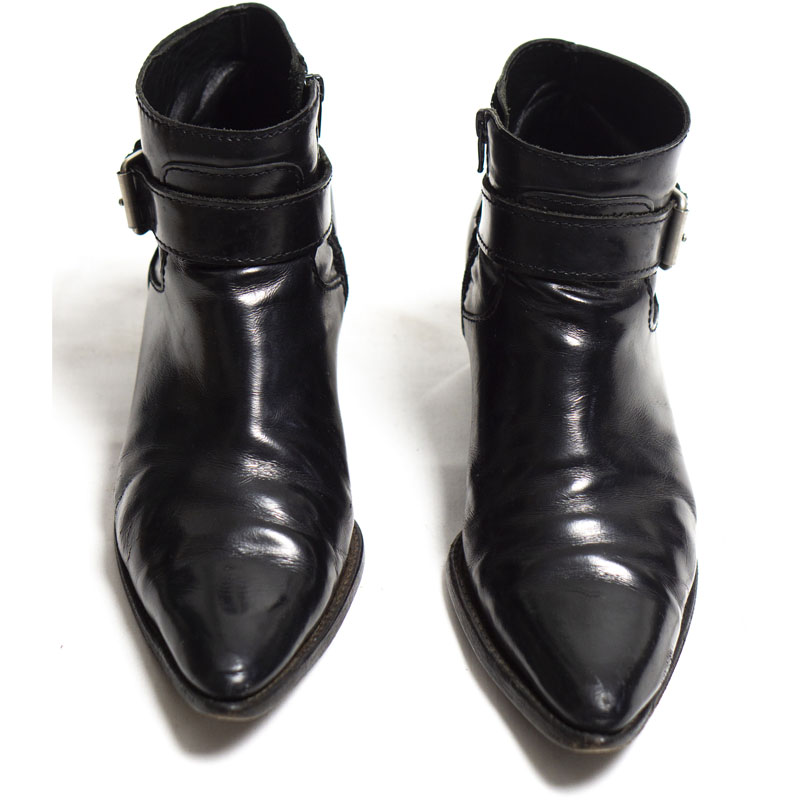 Junya Watanabe MAN Buckled Leather Cuban Boots