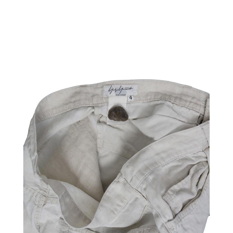 Yohji Yamamoto Pour Homme White Moto Pants