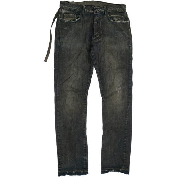 Rick Owens DRKSHDW Distressed Dirt-Dyed Denim Jeans