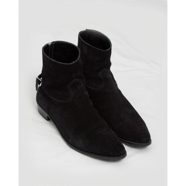 Celine SS19 Buckled Suede Jacno Boots