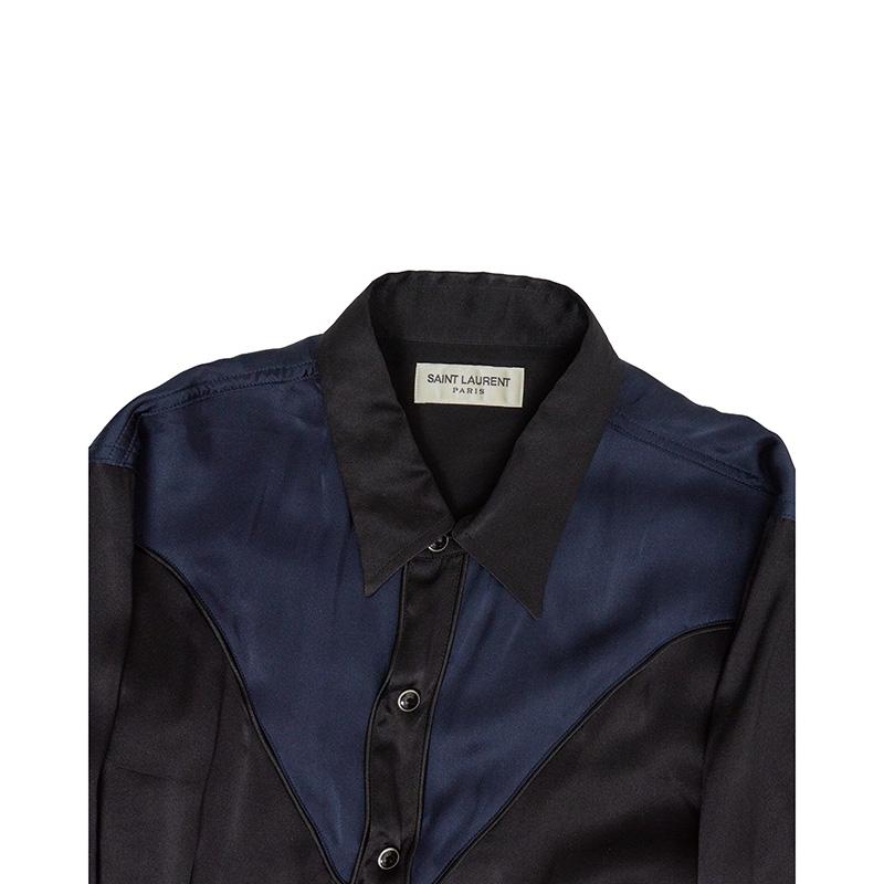 Saint Laurent Paris AW16 Silk Western Shirt