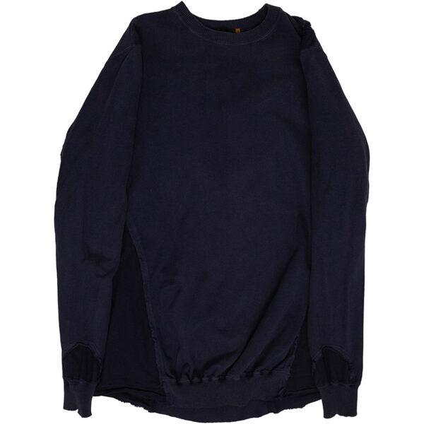 Undercover SS05 Navy Deconstructed Rebuild Sweatshirt
