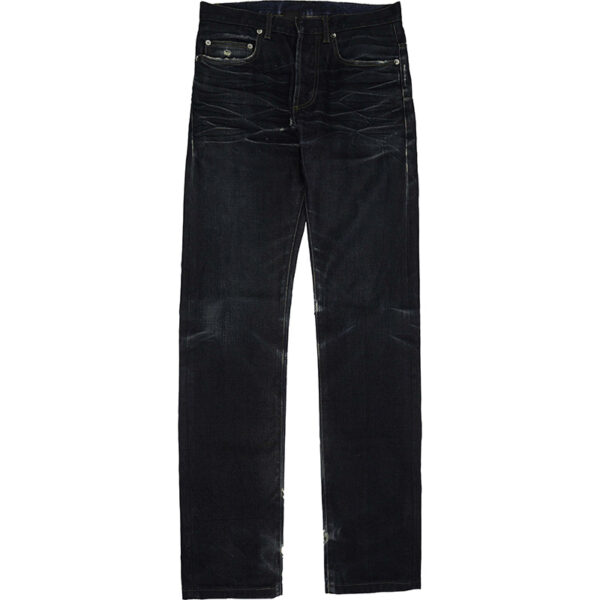 Dior Homme SS05 Navy Coated Distressed Jeans